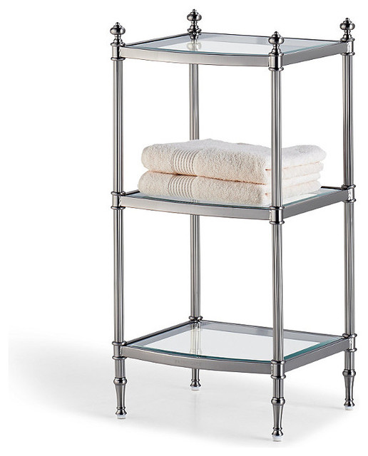 Belmont 3 Tier Etagere Traditional Bathroom Cabinets