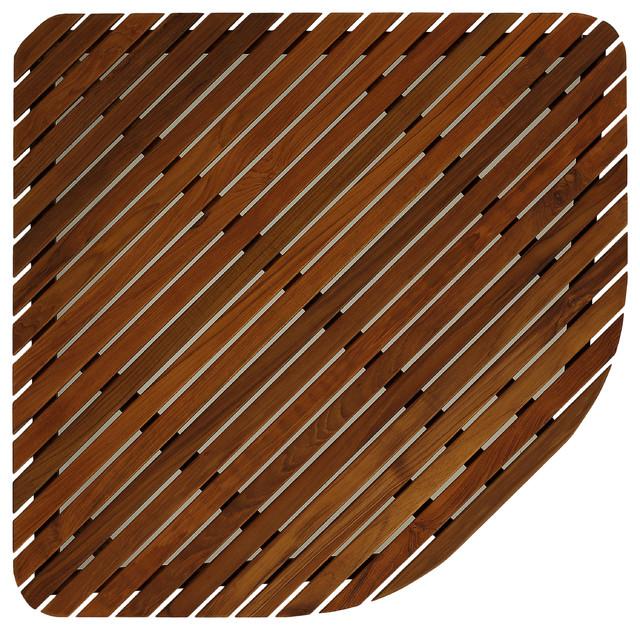 Erika Corner Shower Spa Mat Solid Teak Wood And Oiled