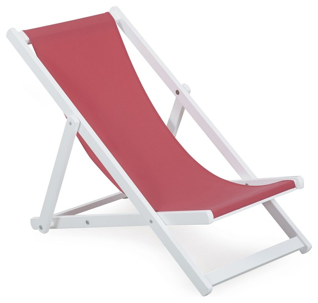 Solea Chaise Longue De Jardin Chilienne Rose Pour Enfant Contemporary Outdoor Chaise