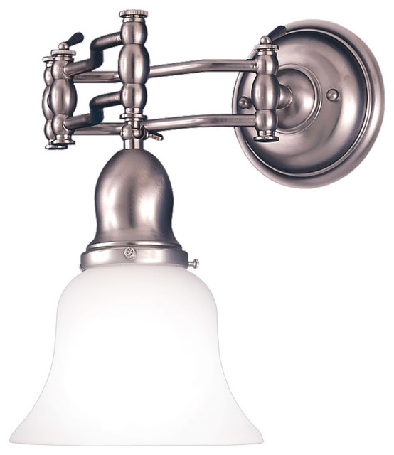 Adjustable Vanity Light Fixtures : Hudson Valley Lighting 342-SN Adjustables 1 Light Bathroom Vanity Lights in Sati - Traditional ...