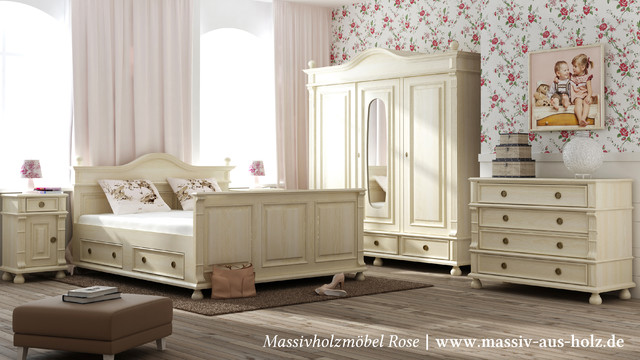 landhausm bel landhausstil schlafzimmer other metro von massivholzm bel rose. Black Bedroom Furniture Sets. Home Design Ideas