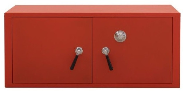 Stack-C Metal Cabinet 2 Door Safe - Contemporary - Storage Cabinets