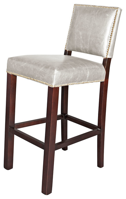 weldon leather stool fog contemporary bar stools and