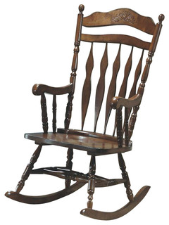 rocking chair in dark walnut finish traditional rocking chairs