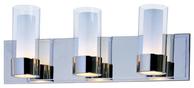 Modern Hollywood Vanity Lights : Silo Bath Vanity Light - Modern - Bathroom Vanity Lighting - by Lightology