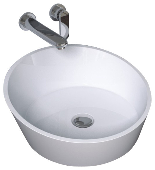 Solid Surface Bathroom Sink: ADM Solid Surface Stone Resin Counter Top Sink