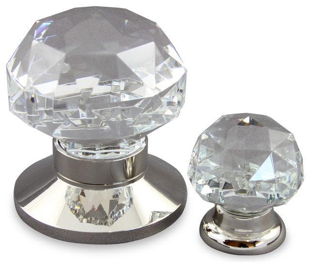 Diamond Cut Clear Crystal door & Cabinet Hardware - Traditional - Cabinet And Drawer Knobs ...