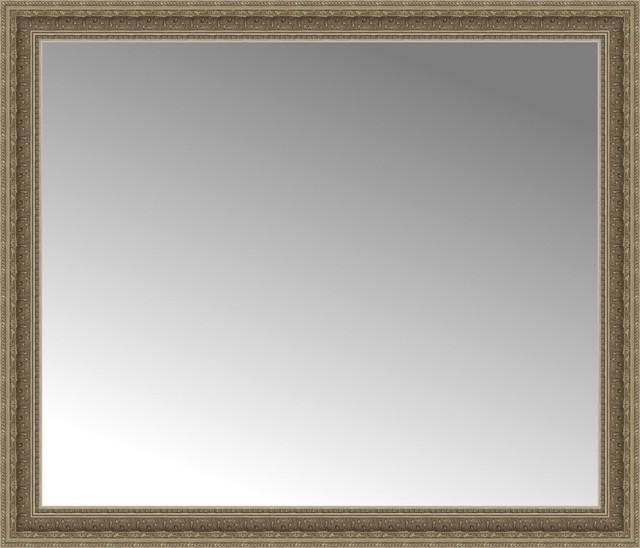 42 x 36 ambrosia silver custom framed mirror for Mirror 42 x 36