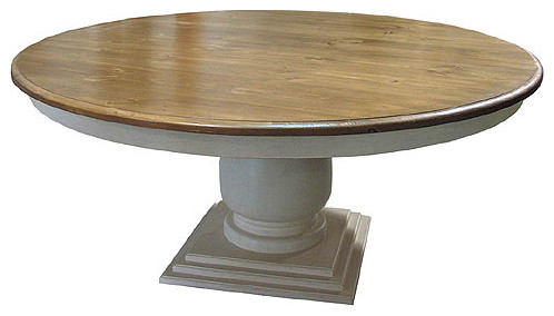 72 Round Dining Table Pedestal Farmhouse Dining