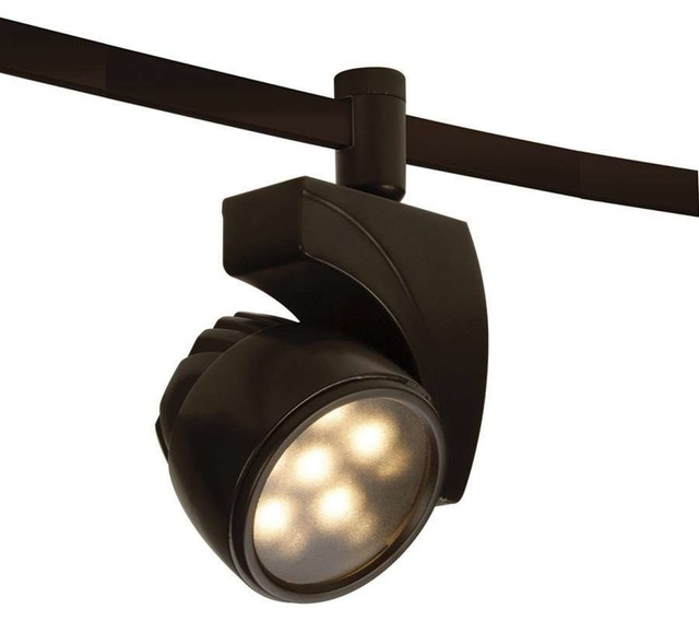 WAC Lighting 18 Watt LEDmeReflex Flexrail1 Dark Bronze Modern Track Ligh