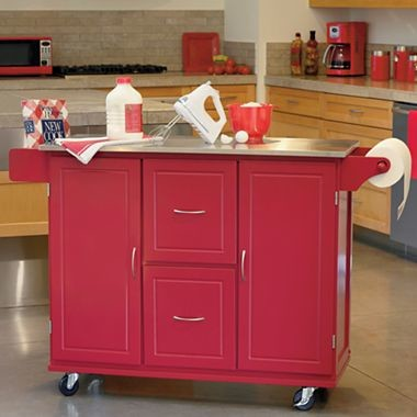 Jefferson Kitchen Cart Red Traditional Kitchen Islands And Kitchen Carts By Jcpenney