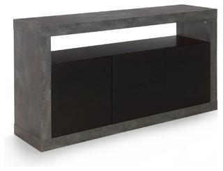 hilo buffet bas 2 portes et 2 tiroirs effet b ton industriel buffet et bahut par alin a. Black Bedroom Furniture Sets. Home Design Ideas