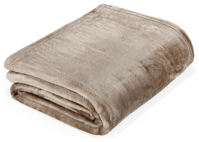 Rubico plaid doux 130x170cm taupe contemporain plaid for Plaid contemporain