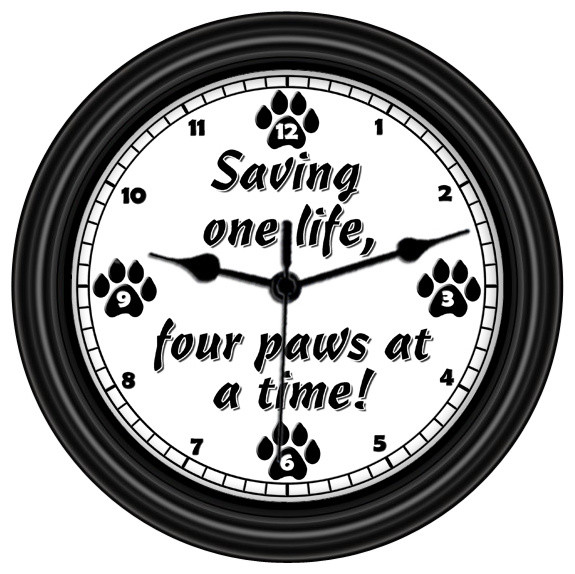 Saving One Life Four Paws At A Time Unique Wall Clock