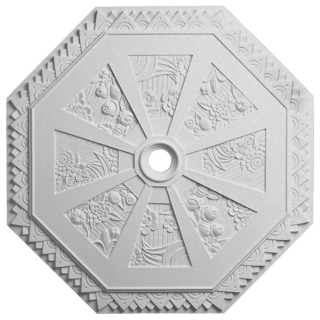 29 1 8 Od Spring Octagonal Ceiling Medallion Fits Canopies Up To 3