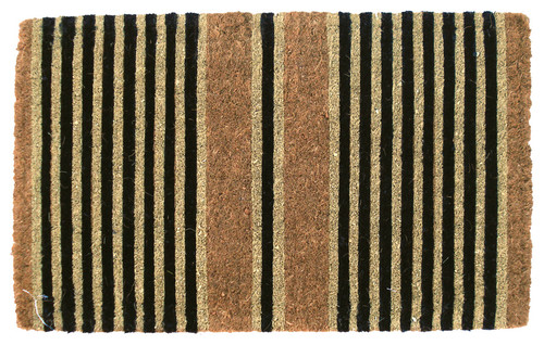 Ticking Stripes Handwoven Coconut Fiber Doormat