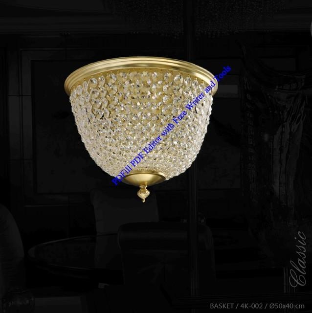 Christmas Lights Shop Adelaide: Bohemian Czech Crystal Ceiling Light Basket 002