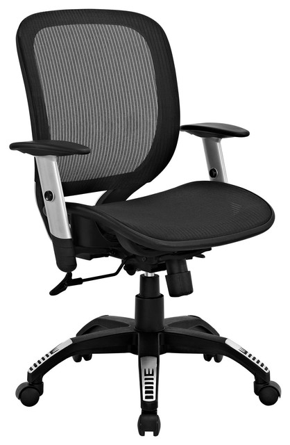 Arillus all mesh office chair in black modern office chairs by