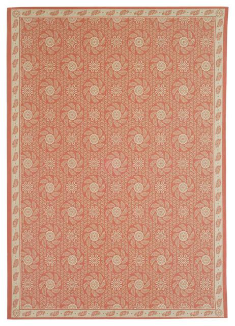 Martha stewart pink area rug msr1125d transitional for Martha stewart rugs home decorators