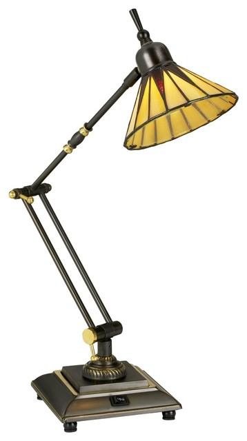 gotham tiffany style downbridge desk lamp craftsman. Black Bedroom Furniture Sets. Home Design Ideas
