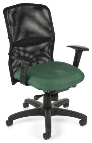 OFM AirFlo Series Mesh Task Chair Green Contemporary