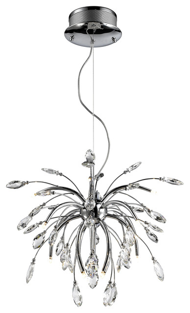 Palm Pendant Crystal Chandelier Graphite Contemporary Pendant