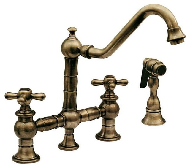 Whkbtcr3 9201 Bridge Faucet Cross Handles Rustic