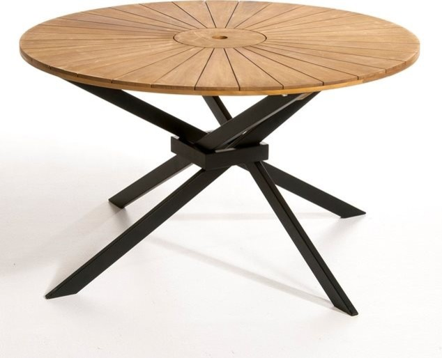 Table de jardin ronde jakta contemporain table de jardin par am pm - Table de jardin contemporaine ...