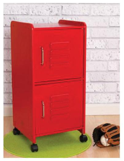 Kidkraft Home Indoor Kids Toys Books And Clothes Storage Medium Locker - Red contemporary-kids ...