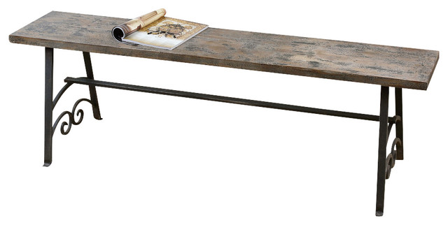 Uttermost Driscoll Wooden Bench Contemporary Indoor