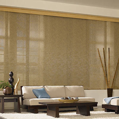 Bali sliding panels roman shade fabrics contemporary for Roman blinds for large windows