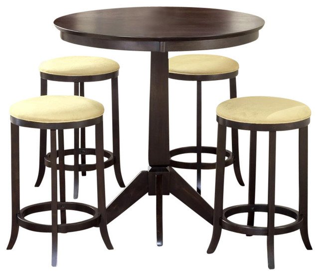 pub furniture set with 4 upholstere contemporary indoor pub and bistro