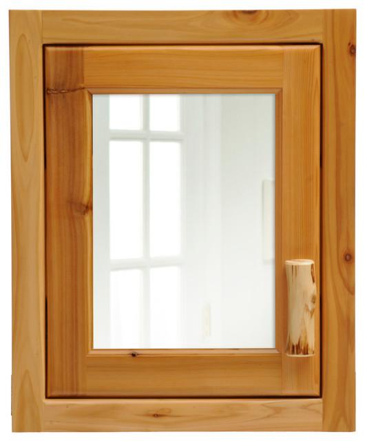 Inset Cedar Medicine Cabinet, Hinged Left - Traditional - Medicine Cabinets - by Fireside Lodge ...