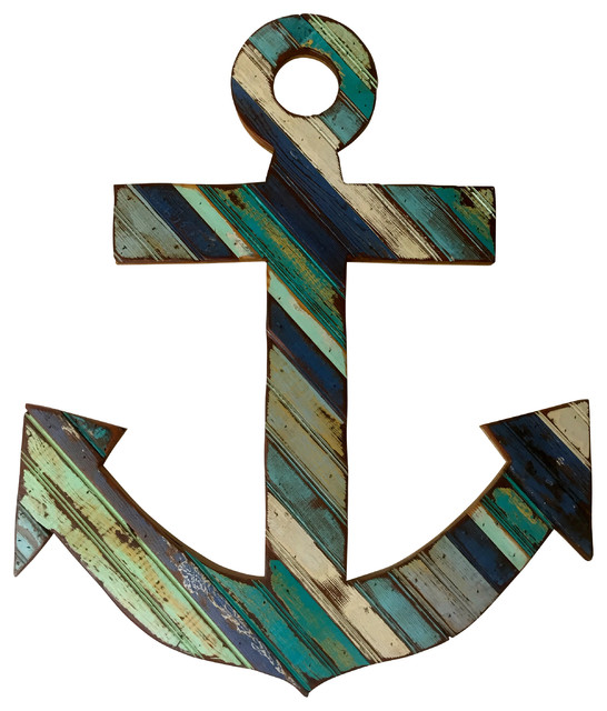 Reclaimed Wood Anchor Wall Art - Rustic - Wall Sculptures - by Ridley Stallings Art