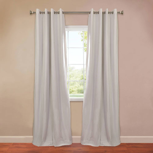 Signature Grommet Off White 50 X 84 Inch Blackout Curtain Traditional Curtains