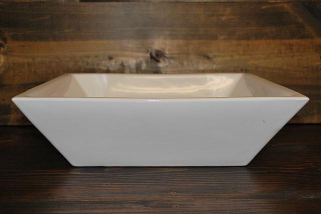 MODERN SQUARE PORCELAIN VESSEL SINK CB06 - Bathroom Sinks - san diego ...