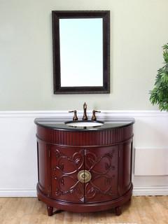 42 brittany single bath vanity cl sico tocadores y - Muebles de lavabo ...