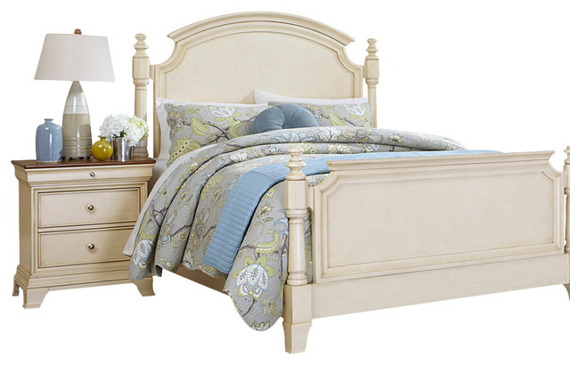 Http Www Houzz Com Photos 7079875 Homelegance Inglewood Ii 2 Piece Poster Bedroom Set In Antique White Traditional Bedroom Furniture Sets