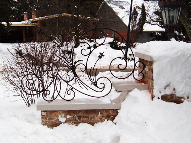 Decorative scroll work mediterranean-home-fencing-and-gates