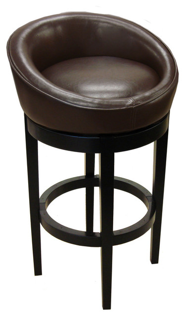 Armen Living Igloo Kd Brown Leatherette Barstool 30 Inch