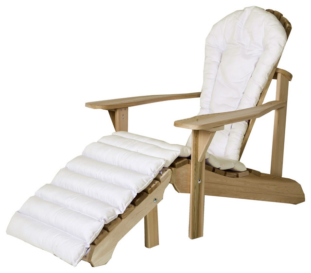 Cushion for Adirondack Chair Ottoman Cushion White