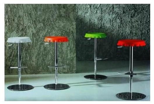 Bottle Cap Bar Stool (Gray) - Contemporary - Bar Stools ...