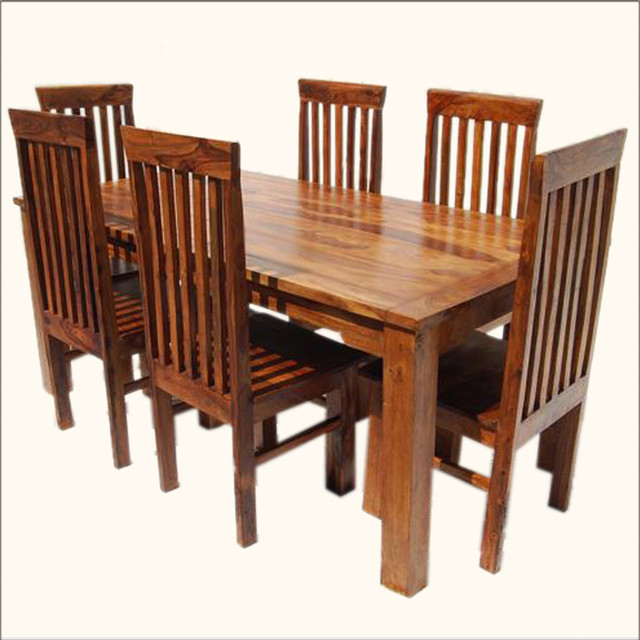 Study Table Chair Set : Lincoln Study 7pc Dining Table & Chair Set - Dining Tables - by Sierra ...