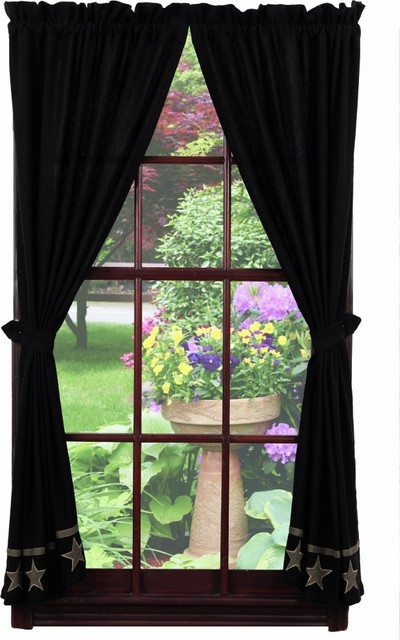 Burlap Curtains With Black Stars - Best Curtains 2017