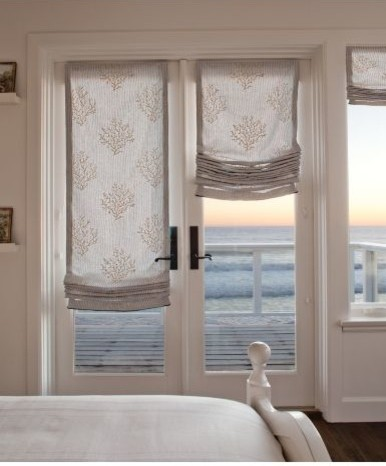 Relaxed Roman Shade Traditional Roman Shades