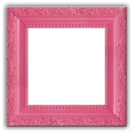 Solid Wood Picture Frame Bubble Gum Pink 4x5 No Glass