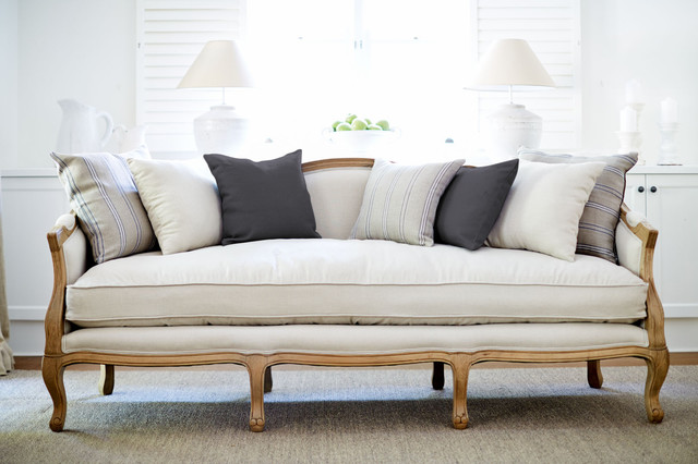 French Provincial Sofa Traditional Sofas Sydney By Lavender Hill Interiors
