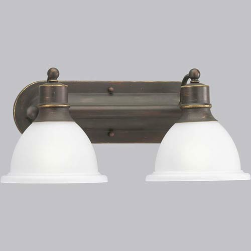 P3162 20 madison antique bronze two light bath fixture for Traditional bathroom lighting fixtures