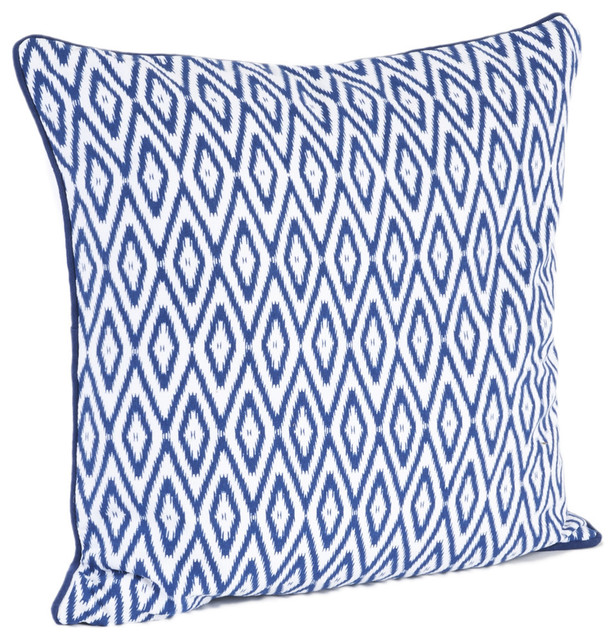 Throw Pillows Down Filled : Ikat Design Down Filled Throw Pillow - Contemporary - Decorative Pillows - by Overstock.com