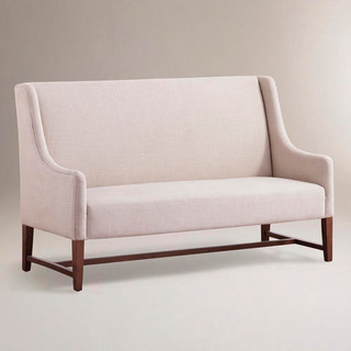 Linen Hayden Dining Banquette Modern Dining Benches By Cost Plus World Market